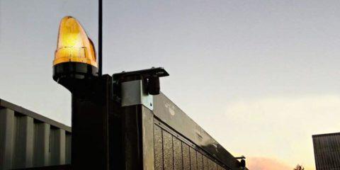 Сигнальная лампа для ворот и шлагбаумов